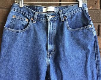Vintage Gap High Waist Jeans / 90s High Waisted Gap Mom Jeans / 1990s Ankle Jeans / High Rise Denim Jeans / Blue Jeans / Waist 30