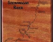SHENANDOAH River Map Fly ...