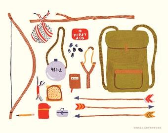 Backpacking 8x10 Print