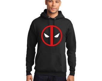 Deadpool Pullover Hooded Sweatshirt Hoodie