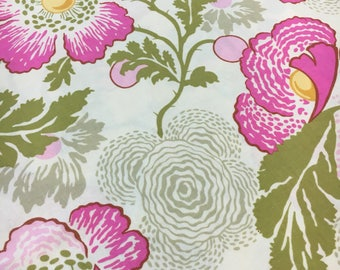 Amy Butler Midwest Modern Fresh Poppies in Fushia. Sold by the half yard.