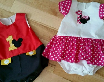 Minnie and Mickey Inspiried Outfits