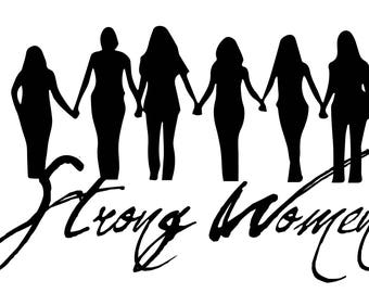 Strong Women .SVG file for vinyl cutting