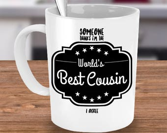 Cousin Gift - Cousins Mugs - Gift for Cousin - Best Cousin - Cousin Present - Family Reunion Gift - Cousin Reunion Gift - Worlds Best Cousin