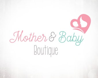 Premade Logo Design • Mother & Baby