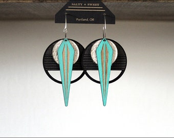 Laser cut earring | LA NAJA: White