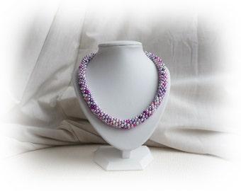 Cherry Blossom crochet necklace