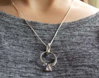 Ring holder necklace Etsy