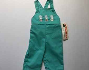1980's Health-tex Duck Overalls NWT (6 months)