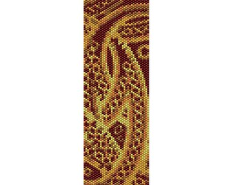 Abstract 10 Peyote Bead Pattern, Bracelet Cuff Pattern, Bookmark, Seed Beading Pattern Miyuki Delica Size 11 Beads - PDF Instant Download