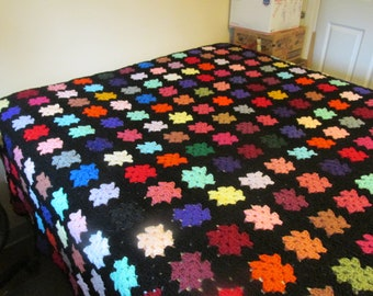 Handcrafted Full - Queen Size Granny Square Afghan