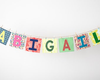 Custom Mix n Match Name Banner in the ABIGAIL Collection