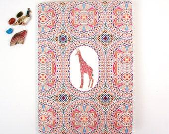 A5 Plain Notebook - Giraffe
