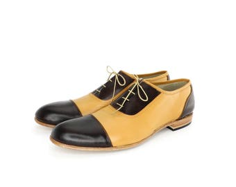 Chocolate Brown and honey vagabond shoes - FREE WORLDWIDE SHIPPING