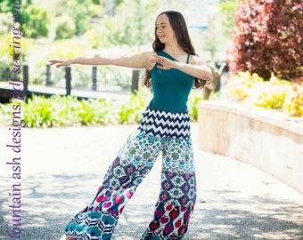 Festival Pants Sewing Pattern Ladies Sizes