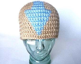 Elemental Master beanie, handmade crochet ||  Child, Adult, XL Adult || Ready to Ship