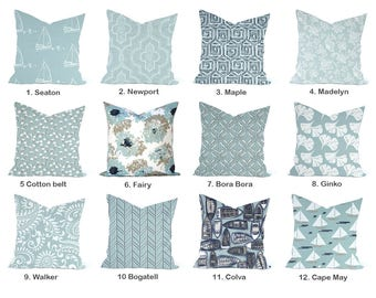 One Premier Prints  Pillow Cover, cushion, decorative pillow, throw pillow, Light Blue Pillow, Nautical Pillow