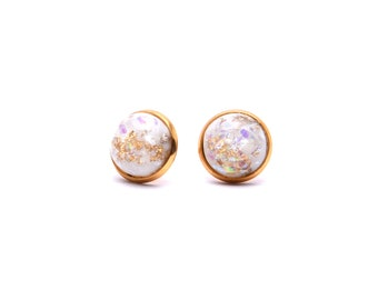 Gold Leaf Earrings - Pearl Series