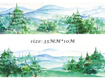 1 Roll Limited Edition Washi Tape -Pine Forrest