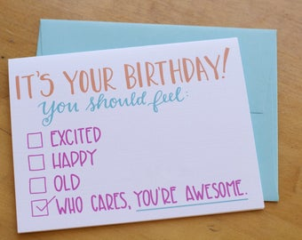 Who Cares Awesome Card