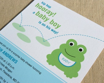 Frog Baby Shower Invitation / Printable Baby Shower Invitation