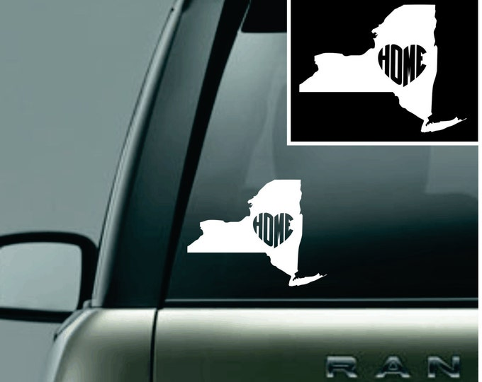New York Love Your State Car Decal
