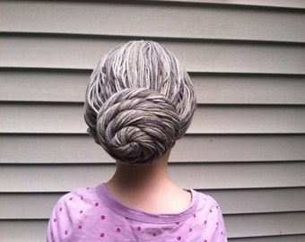 Toddler costume, Granny wig, Old Lady costume, Gray wig, Grey wig, Kids costume, Grandma costume, 100th day of school, school outfit