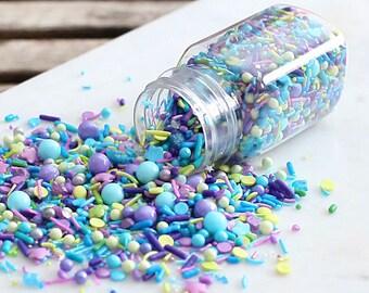Sprinklefetti Under the Sea Sprinkles Mix, Nonpareils, Sparkling Sugar, Sugar Pearls, Blue Sprinkles, Purple Sprinkles, Green Sprinkles