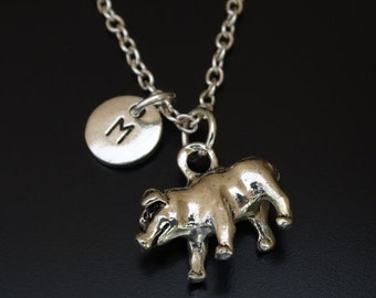 Pig Necklace, Pig Charm, Pig Pendant, Pig Jewelry, Farmers Wife, Farmers Daughter, Animal Necklace, Animal Jewelry, Gift for Farmer