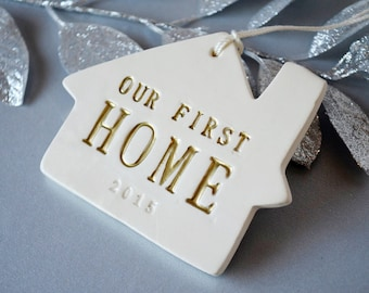 Christmas Ornament - Our First Home 2017 - Gift Boxed and Ready to Give