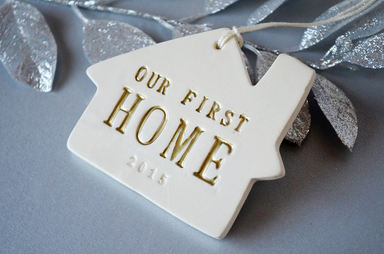 Christmas Ornament Our First Home 2017 Gift Boxed and