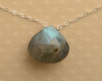 Labradorite Necklace, Silver Necklace, Gemstone Necklace, Gifts for her, Healing Gemstone Jewelry