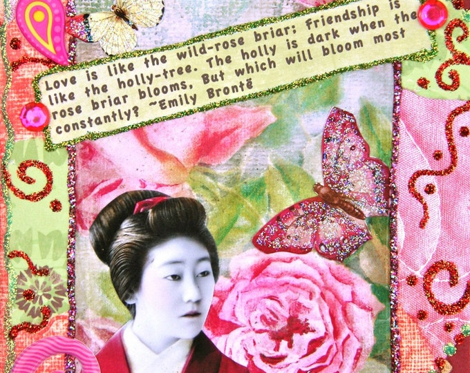 Handmade Altered Art Journal, Mixed Media, Size 5 x 7, Constantly