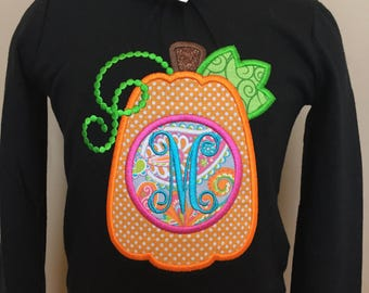 Personalized Thanksgiving Pumpkin Initial / Letter Shirt