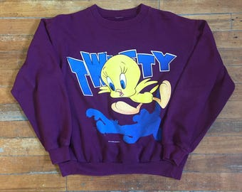 Looney Tunes Tweety Pullover Sweat Shirt