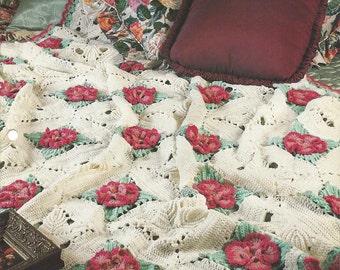 Crochet Blanket Pattern Irish Wildflower Afghan, Flower Blanket, Granny Square, Home Decor, Bedspread, Sofa Throw, Bedding, Annie's Crochet