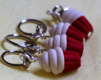 Red Velvet Cupcake Stitch Markers (set of 4)