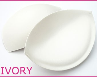 Sew in Bra Cups - Perfect for Dressmaking & Bridal Alterations - IVORY BRA CUPS - Sizes A - E Cup