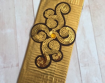 Duct Tape Wallet GOLD WALLET Duck Tape SEQUIN Bridesmaid Gift Personalized