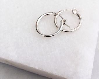 Silver Hoop Earrings, Dainty Silver Earrings, Sterling silver Hoop Earrings, Silver Earrings, Boho Earrings, Minimalist Hoop Earrings