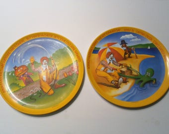 Mcdonaldu0027s Lexington hard plastic plates Spring and Summer of the set 1977 & Harker Royal Gadroon Violet Dinner Plates Set of Four Plates