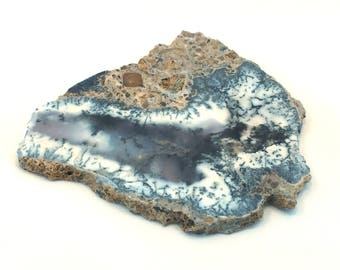 Dendritic Agate specimen rock slice slab 33.2g rough raw - for cabochons or collecting