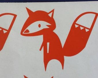 Fox Decal, Fox Nursery Decor, Tribal Wall Stickers, Southwestern Decals Foxes, Stickers