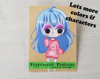 Girl Earrings Googly Eye Earrings Purple Earrings Purple Party Favors Anime Art Earrings Clip On Earrings Pierced Earrings Anime Earrings