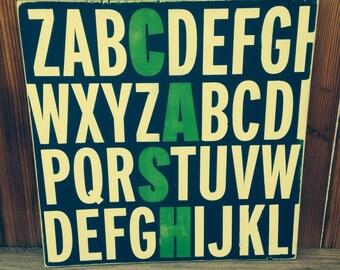 Alphabet Name Sign