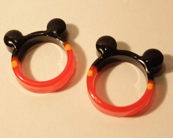 Resin Mickey Mouse Ring 17 - 18 mm