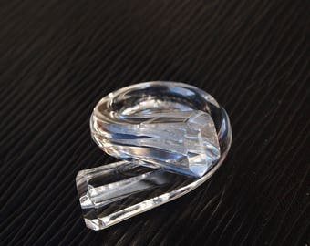 """Ring (O 51) """"Facets"""" transparent with silver, simple and Chic but above all... Unbreakable!"""