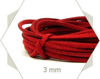 5 m strap suede 3 mm red CS04