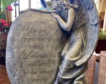 Concrete angel stone memorial statue gift