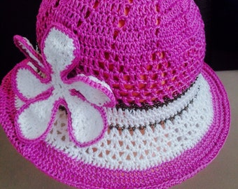 Crochet Summer Hat Pattern, Mom and child sunhat, Baby to adult summer hat, Baby girls Hat, crochet summer hat pattern, girls hat, Vio1